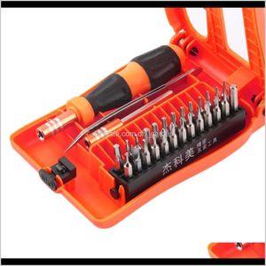 Schraubendreher Handwerkzeuge Hausgarten Drop Lieferung 2021 Jakemy JM8104 29 in 1 Präzisionsschraubendreher Set Disassemble Laptop Telefon GD5H8