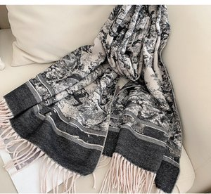 Designers Women cashmere scarf Shawl High quality Fashion Silk scarves 2021 luxury muffler Letter pattern wool Landscape animal Print Pashminas with Free Box Gifts