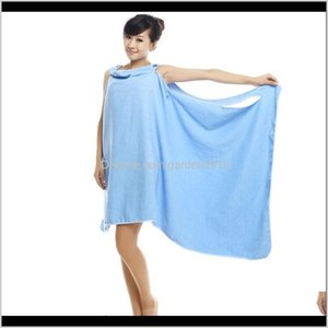 Wearable Microfiber Sexy Towel Dry Wash Clothing Women Bath Towels Spa Beach Dress Wrap Drop Ccclw Tnloc