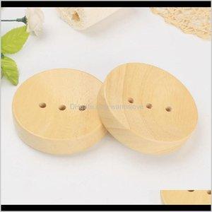 Outdoor Gadgets Bathroom Dishes Sink Deck Bathtub Shower Round Hand Craft Natural Wooden Holder For Sponges Scrubber Soap Md1Ig Cki3P
