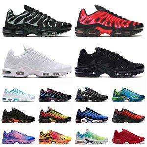 max plus tn airmax tns حجم الولايات المتحدة 12 حذاء الجري للرجال والنساء في جميع أنحاء العالم tn plus se ثلاثي  أسود كل أبيض أحذية رياضية خارجية 36-46 يورو