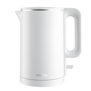 [EU instock] Konka Electric Kettle Stainless Steel Water-Kettle Heating Pot Teapot Quick-Heating 1500W 1.8L Capacity Black and White myyshop