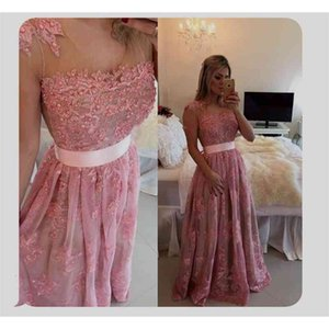 Spring 2021 Pearls Lace Pageant Dresses Sexy Beads Lace Vintage Formal Evening Prom Gowns With Sleeveless