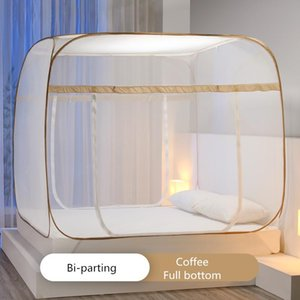 Mosquito Net Universal Square 6 Size Outdoor Bedding Tent Mesh Anti-insect Folded Bed Canopy Room Decor Curtain Valance