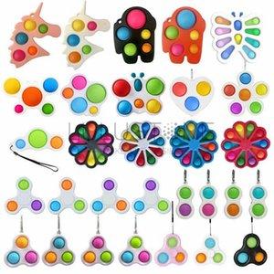 팝 장난감 Fidget Sensory 푸시 버블 보드 게임 불안 스트레스 reliever 어린이 성인 자폐증 특별 요구 판매 E178345