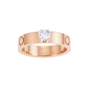 High quality designer Titanium steel ring fashion jewelry man wedding promise rings for woman anniversary gift