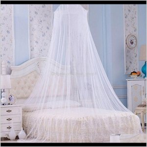 Bedding Supplies Textiles Garden Drop Delivery 2021 White Elegant Round Lace Insect Bed Canopy Netting Dome Mosquito Home Curtain Room Net Ff