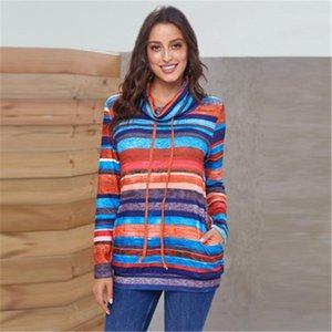 Womens Multicolor Patchwork Pullover Sweaters Fashion Trend Long Sleeve Warm Sports Casual Sweatshirts Designer Female Loose Sweatshirt