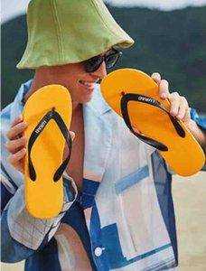 Высококачественные флип-флопы мужские летние тапочки нескользящие черные зажимы ноги сандалии мягкие нижние клип резиновые подошвы пляж плоский мужчина сандал с коробкой