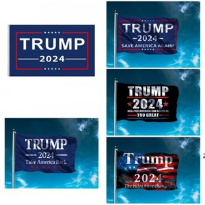 90*150cm Trump Flag 2024 Election Flag Banner Donald Trump Keep America Great Again 5 Styles Polyester Flag BWB6254