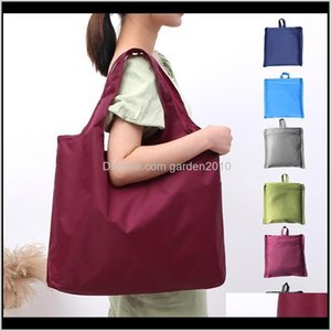 Big Size Ecofriendly Reusable Portable Oxford Cloth Shoulder Handbag Waterproof Folding Shopping Bag Travel Grocery Tote Storage Bags Pnzxm