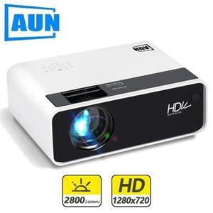 AUN Mini Projector D60 1280 x 720P Поддержка Full HD 1080P для домашнего кинотеатра Android WiFi TV Box (необязательно) 3D LED AC3 210609