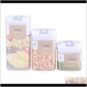Flaschen Gläser Housekeeping Organisation Hausgarten Drop Lieferung 2021 500/800 / 1200ml Küchenbehälter Behälter verschlossene Aufbewahrungsbox für fr