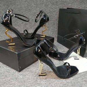 Классика Женская обувь каблуки сандалии мода пляж толстые нижние платья обувь алфавит леди сандал кожаный высокий каблук домой011 08