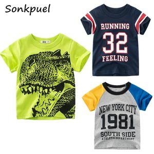 2021 Summer Children T Shirt Boys Girls Fashion Short Sleeves T-shirt for Girl Striped Round Neck Top Tee Kids Clothes