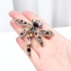 Big Crystal Dragonfly Brooches Women Alloy Insects Brooch Pins Jewelry Gifts