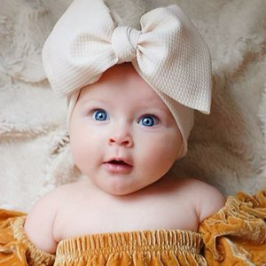 أوروبا أزياء الرضع الطفل القوس عقال 7.48 بوصة الاطفال بلون بلون bowknot مرونة الشعر الفرقة الأطفال لينة أغطية الرأس هيرباندز 12 ألوان Z3337