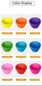 diy 7cm round cup muffin baking pudding silicone cake mold