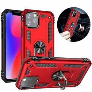 Pour iPhone 12 Pro Max Cas Max avec porte-bagues magnétiques Porte-bague à doigt Armure antichorcométrique Couverture 5S SE 6S 7 8 Plus cas de téléphone