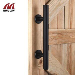 Handles & Pulls 12 Inchs Sliding Barn Door Handle Stainless Steel Black Wooden Warehouse Furniture Hardware