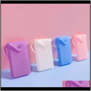 Bins Sile Cover Bag Facemask Holder Face Storage Case Save Mask Boxes Portable Travel Organizer Lx3568 Cdy2V Tckmg