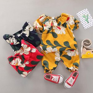 Kids Clothes Sets Baby Girl Summer Casual Outfit Designer Wholesale Fashion Suit Short Vacation Tops+Pants 2 Piece Clothing