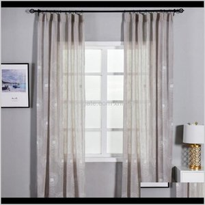 Curtain Drapes Deco El Supplies Home & Garden Drop Delivery 2021 Embroidery Window Sheer Curtains Circle Design For Living Room Ready Made Or