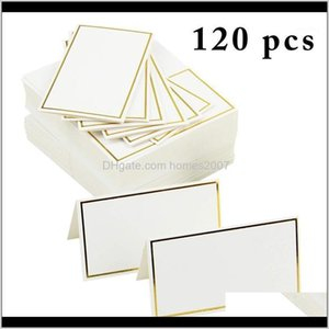 Festive Home & Garden Drop Delivery 2021 120Pcs Place Cards Wedding Decoration Decor Table Name Mes Greeting Card Event Party Supplies Seatin
