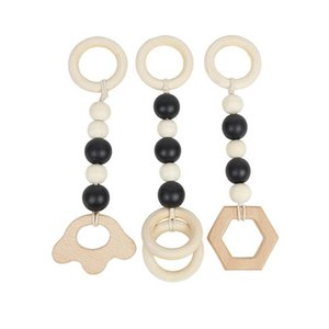 Baby Pacifier Holders Clips Weaning Teething Natural Wooden Boy Practice Infant Toys Toddler Accessories 3pcs set B4643