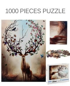 Jigsaw puzzle of 1000 piece of hard paper Adult decompression interesting plane toys The world famous animal landscape jigsaw puzzle
