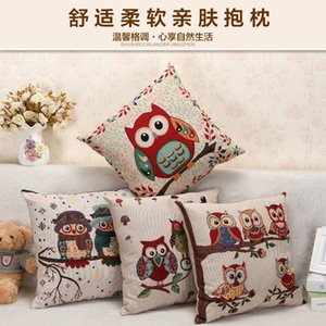 Best-selling the Owl Yarn Dyed Pillow Looks Like Cotton Linen Sofa Cushion