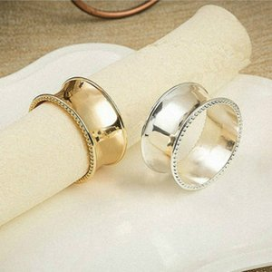 Wedding napkin rings metal holders for dinners parties hotel table decoration supplies diameter 4.5cm GWE5927