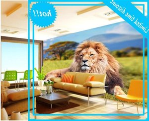 custom photo Prairie wild animal lion background living room home decor 3d wall murals wallpaper for walls 3 d
