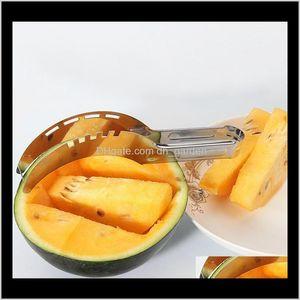 Vegetable Tools Wholesale Watermelon Slicer Stainless Steel Peeler Fruit Cutters Knife Cutter Corer Scoop Useful Smart Kitchen Gadget P1Xhn