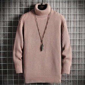 Mens Turtleneck Men 2020 Autumn Winter High Collar Sweater Pullover Korean Turtlenecks Black Slim Fit Sweaters For Men1
