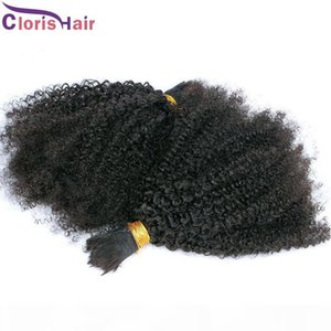 Kinky Curly Bulk Hair For Extensions Human Hair Bulk No Weft Raw Indian Afro Kinky Curly Human Hair Extension Bundles