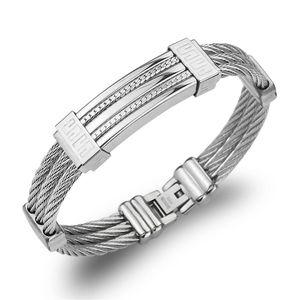 Multi Layers Stainless Steel Wire Bracelet Bangle For Women Vintage Jewelry Pulseira Feminia Wholesale Bulk Items