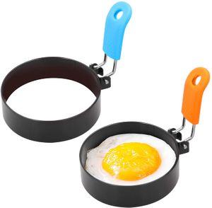 5 pcs anel de ovos ferramenta de aço inoxidável redonda molde omelete para fritar muffins sanduíches panquecas