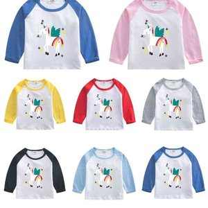 Spring Autumn Children's Clothing Long Sleeve T-shirt Pullovers Cartoon Printed Girls Boys Cotton Patchwork Hoodies Tops Sweatshirts G4Y1RJ8