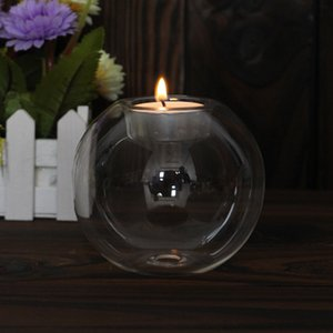 Classic Crystal Glass Candle Holder Wedding Bar Party Home Decor Candlestick ZHL1144