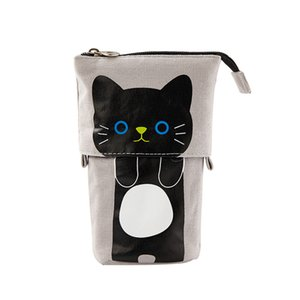 Cute Pencil Case Storage Standing Pen Holder Telescopic Makeup Pouch Pop Up Cosmetics Bag Stationery Office Organizer Box For GWD10330