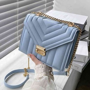 Bags 2021 A flip-flop v-line Fashion Color Sac A Main A flip-flop handbags and purses with sleeves