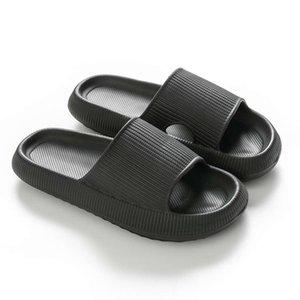 PJVK повседневная обувь тапочки пляж женщины летняя толстая платформа EVA Soft Zool слайд сандалии для отдыха мужчины дамы крытый ванная комната противоскользящая обувь XJK7