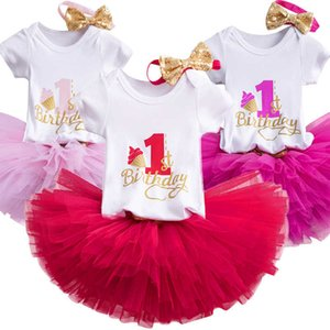 My Little 1 Year Birthday Dress Unicorn Party Infant Christening Gown Tutu Cake Smash Baby Girl Casaul Summer Clothes