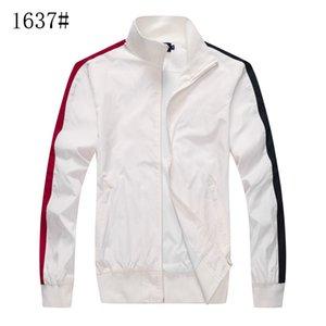 Jacket men's slim solid color waterproof long-sleeved stand-up collar casual baseball uniform
