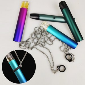 electronic forced cigarette hanging grid ring men's sweater keel chain 304 Stainless Steel Necklace