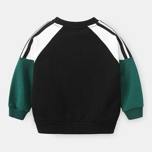 Boys Autumn Long Sleeved Tops Children Clothes Cartoon Sweater 1-10 Years Old Kids Casual Outwear Baby Fashion Sweatershirt Tops G0917