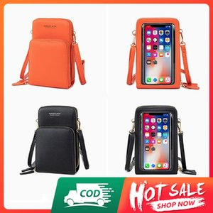 Accept cash on delivery-stock in Nigeria-fast delivery--Crossbody Shoulder Bags Women Touchable Cell Phone Purse Touch Screen Yellow