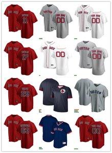 Erkek Kadın GençlikBostonKırmızıSox29 Bobby Dalbec 11 Rafael Desters 17 Nathan Eovaldi 63 Darwinzon Hernandez Beyzbol Forması Boş Beyaz Kırmızı Gri Donanma