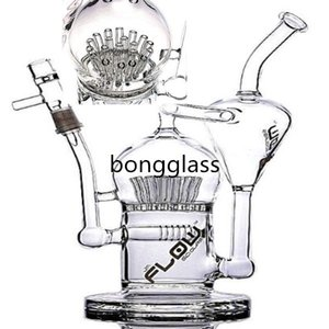 10.7inchS Hookahs Percolator Water Pipes Smoking Feb Egg Bongs Klein Recycler Dab Rigs chicha Bubbler With 14mm Joint